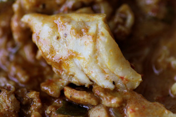 Chicken is shown in a Chicken Rendang dish in this picture illustration