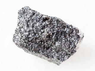 piece of Amphibolite stone on white