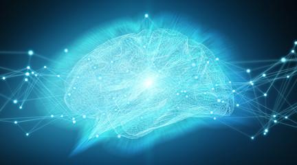 Human brain digital x-ray 3D rendering
