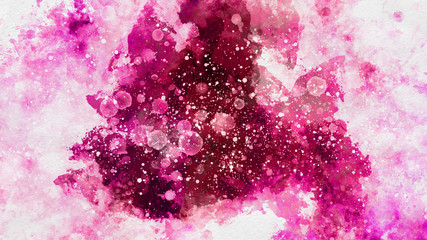 Colorful pink watercolor paint background