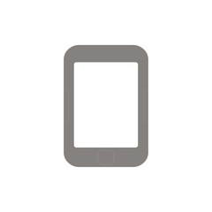 E-book or tablet portable pad computer  on white background. Mock Up. Vector Illustration. Graphic design with blank screen. template.