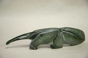 "Russia, Perm Krai, village Red Yasyl: sculptures of the artist Nechayev Sergey  ""Anteater"""