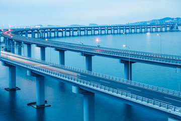 The Dalian Xinghai Bay cross-sea bridge,liaoning province,china.