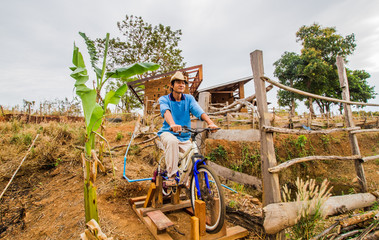 Bicycle for water pump