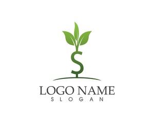 Business finance money plant logo template
