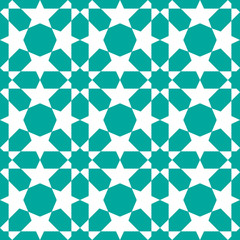Seamless pattern in islamic traditional style background vector.