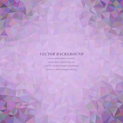 Purple colorful tiled triangle mosaic background design