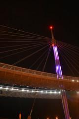 Night Pescara Bridge, Ponte del Mare, Abruzzo, Italy