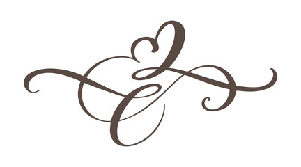 Heart love sign forever. Infinity Romantic symbol linked, join, passion and wedding. Template for t shirt, card, poster. Design flat element of valentine day. Vector illustration