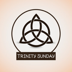 nice and beautiful abstract, banner or poster for Trinity Sunday with nice and creative design illustration in a background.