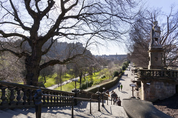 Princes street garden in Edinburgh
