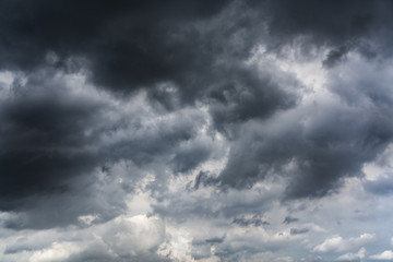 Rain clouds before thunderstorm for background