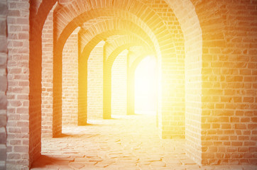 old stone arches and sunshine