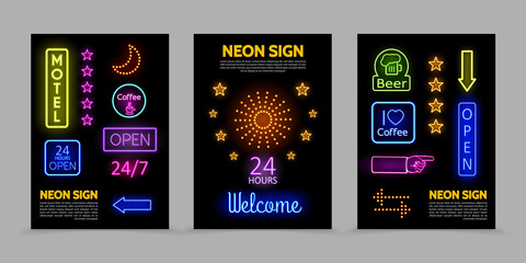 Neon Signs Promotional Posters