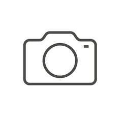 Camera icon vector. Line photo symbol.