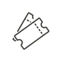 Ticket icon vector. Line raffle ticket symbol.