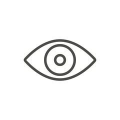 Eye icon vector. Line vision symbol.