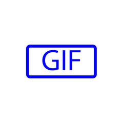 Blue gif icon