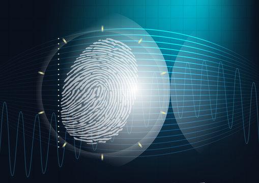 Empreinte - empreinte digitale - scanner - identité - crime - identification - enquête - coupable