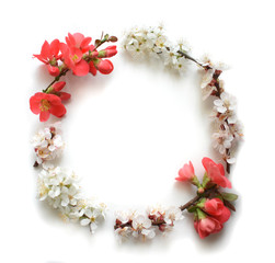 isolated wreath of flowers