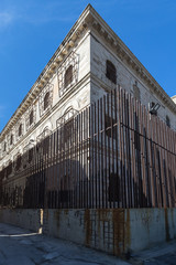 The building of the closed and abandoned Bourbon prison (Carcere borbonico) of Syracuse