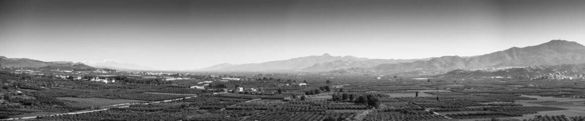 Scenic landscape with farms, Greece