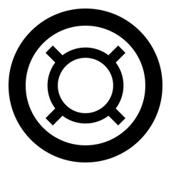Computer symbol any currency icon black color in circle