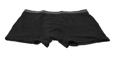 black panties isolated on white background