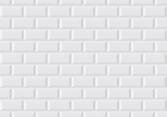 Obraz Carrelage mural blanc - fototapety do salonu