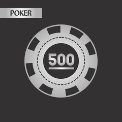 black and white style poker chips