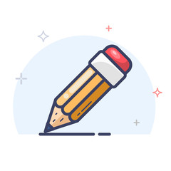 Vector Pencil Line Icon