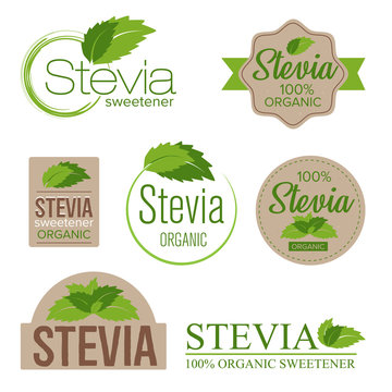 stevia sweetener sugar substitute label set