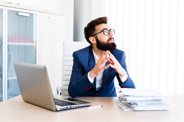 Young Businessman Has Very Stressful Day At Work