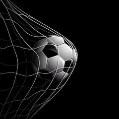 Soccer Ball on Black