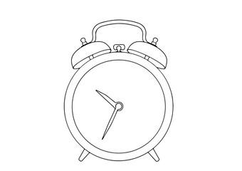 sketch of the alarm clock vector