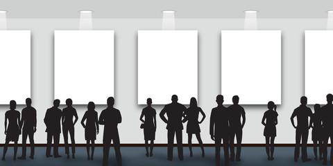 art - exposition - exposer - musée - galerie - art moderne - public - visiteur - tableaux - artiste