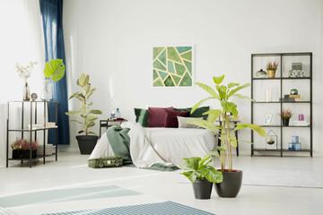 White modern design bedroom interior