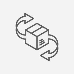 Delivery icon line symbol. Isolated vector illustration of shipping sign concept for your web site mobile app logo UI design.