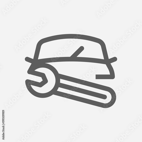 Car Repair Icon Line Symbol Isolated Vector Illustration Of Auto