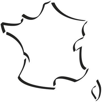 France + Corse contour stylisé