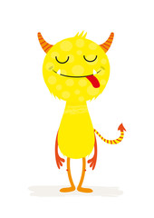 Cute colorful smile monster. Vector illustration
