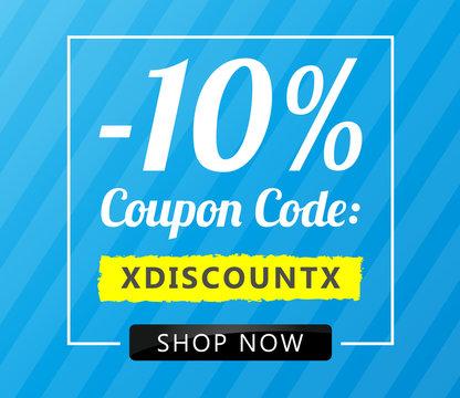 10 Coupon Code Blue