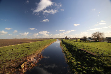 small canal in Waddinxveen and Moerkapelle
