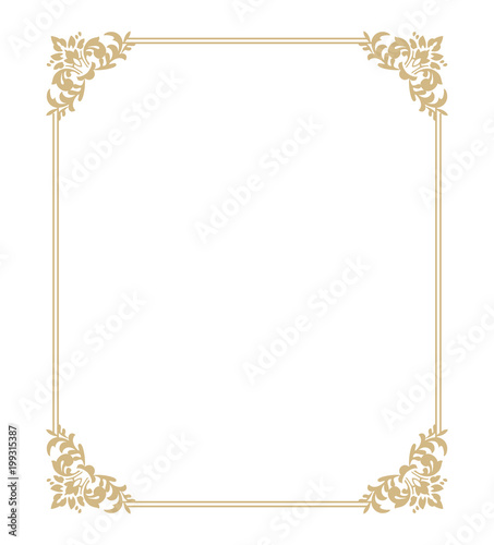 Thin Gold Beautiful Decorative Vintage Frame For Your Design Making
