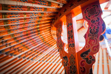 Yurt ceiling detail