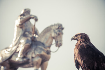 Vulture and Genghis Khan Monument