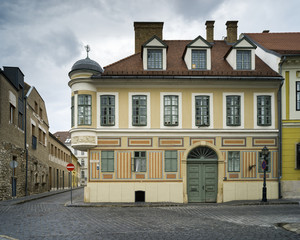 Buildings on the street, Buda's Castle District, Budapest, Hungary