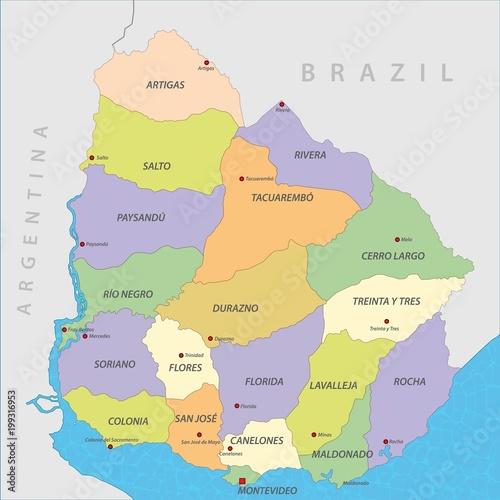 Map of Uruguay\