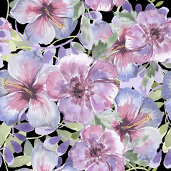 Seamless wallpaper, floral backgrounds. greeting card..Stylish wallpaper, patterns