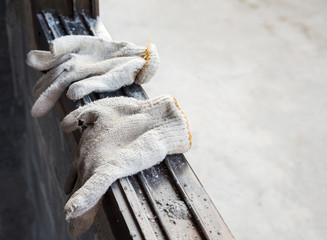 Foto op Aluminium Xian Old fabric gloves of the worker.